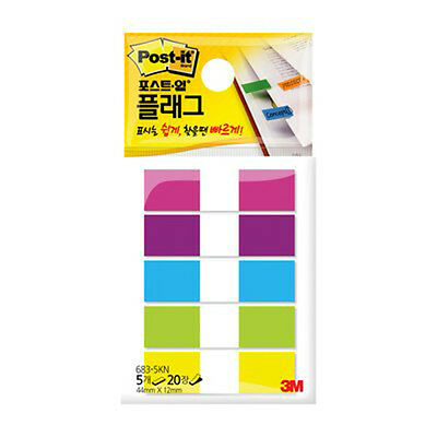 3M Post-it Flag 683-5KN 12mm*44mm 1pack 100Sheets bookmark point Sticky Note