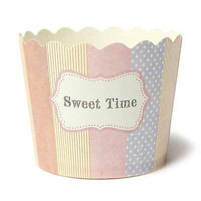 Cupcake Fest Papier Muffin Cup 6*4.5*5CM 50Stueck-sweet time Muster ET