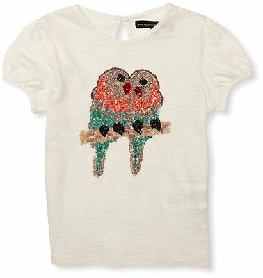 Girls French Connection Designer Love Birds Sequin T-shirt Top FC0008 RRP £25