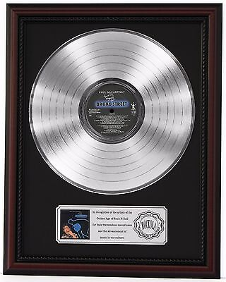 "Paul Mccartney Broadway Platinum Lp Record Framed Display ""k1"""