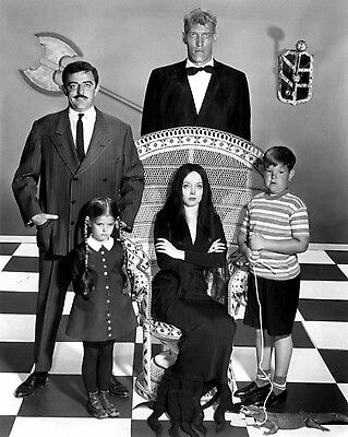 1964 TV Show THE ADDAMS FAMILY Glossy 8x10 Photo Poster Uncle Fester Lurch Print