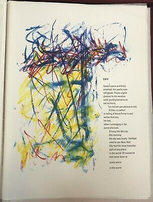JOAN MITCHELL 'Sky' from 'Poems', 1992 Limited Edition Lithograph Print Framed