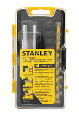 New Stanley 14-Piece Hobby Knife Set With Case Stht73872