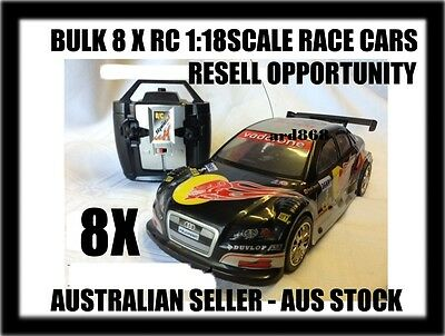 Bulk Lot Of 8 X Rc 1:18Scale Racers - Resell Opportunity- Aus Seller