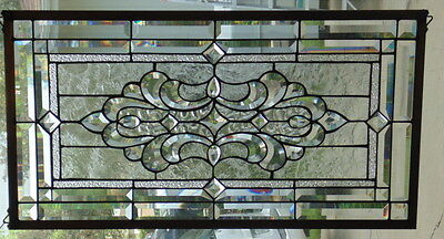 Stained Glass window hanging 30 1/2 X 16 1/4""