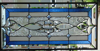 """Stained Glass window hanging 30  X 14 1/2"""""""