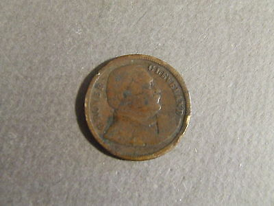 1893 Grover Cleveland Commerative Medal/coin Visit Columbian Exposition Chicago