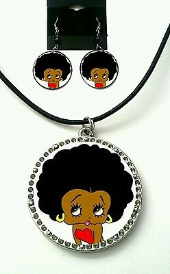 Betty Boop necklace and earring set