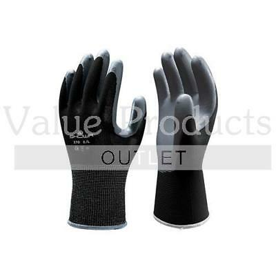 SHOWA 370 Assembly Grip Gloves Black Nitrile Palm Coated Work Safety Gripper