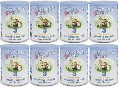 NANNYCare Stage 3 Growing Up Milk - 400g (Pack of 8)