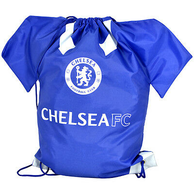 Chelsea Gym Bag Shirt Shaped Crest PE Gift Official Licensed Football Product