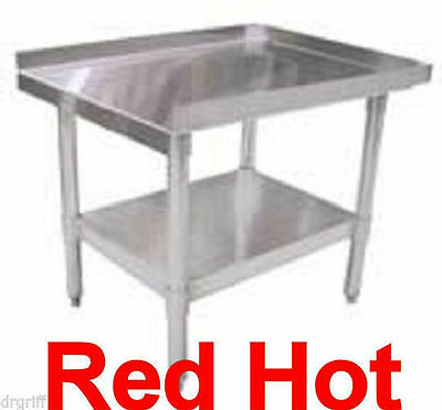 "New Fma Omcan Stainless Steel Equipment Stand Table 12""X30"" NSF Approved 24185"