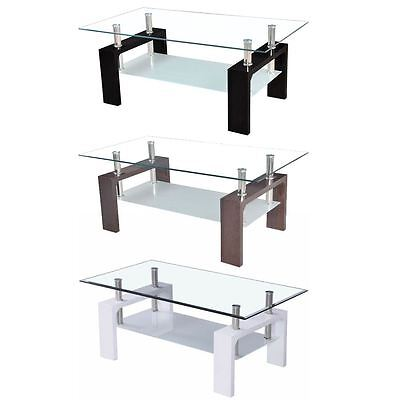 Elise Rectangular Coffee Table Glass Rectangle Modern Legs New By Home Discount