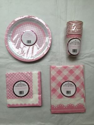 New Special Occasions Baby Shower Party Buffet  Accessories 4-Piece Set Pink