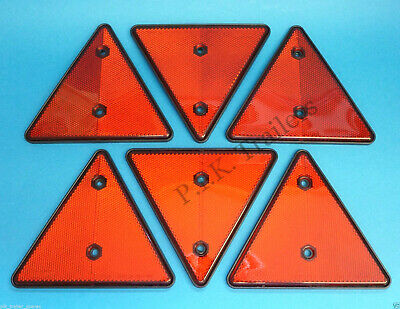 FREE P+P* Triangle Reflectors for Driveway Fence Posts, Garden Walls & Trailers