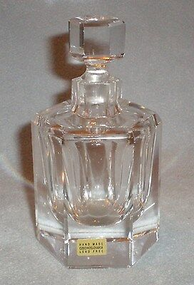 Czech Republic Brilliant Heavy Moser Crystal Perfume Bottle with Stopper