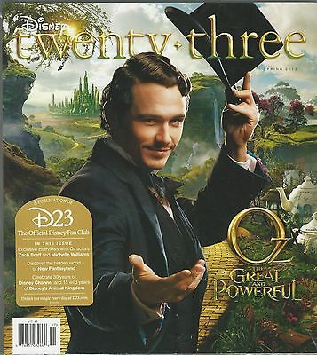 Disney twenty-three 23 Issue 14 Spring 2013 Oz Zach Braff Michelle Williams NIS