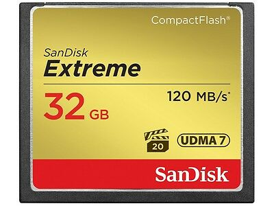 New SanDisk 32GB 32 GB CF Extreme Compact Flash Memory Card 120MB/s SDCFXSB-032G