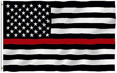 Anley Fly Breeze 3x5 Foot Thin Red Line USA Polyester Flag Honoring Firefighter