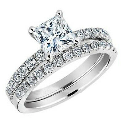 SZ K to W Ring Rhodium Plated Wedding Engagement Princess Anniversary Wife Gift
