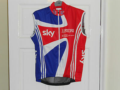 Team GB Rider Issue cycling bike shirt wind vest gilet Great Britain