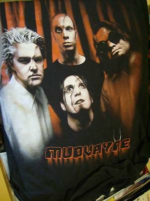 Mudvayne Band Picture Large Adult Black Long-Sleeved T-Shirt