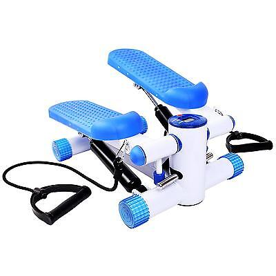 NEW! Aerobic Fitness Stepper With Ropes Exercise Arms Legs Workout