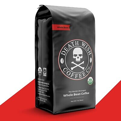 Death Wish Coffee Co (Official) - Worlds Strongest Coffee: 1 Pound Whole Bean