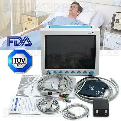 "12.1"" Vital Sign ICU/CCU Patient Monitor 6 parameter ECG NIBP RESP TEMP SPO2 PR"