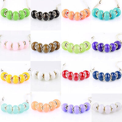 5pcs Jelly Multicolor MURANO BEAD LAMPWORK fit European Charm Bracelet Women