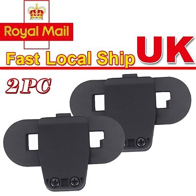 2x Mount /Clip UK Stock for 800m BT Motorcycle Helmet Interphone TCOM Intercom