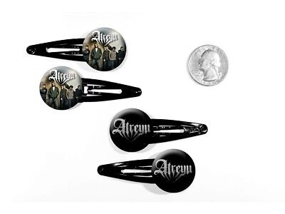 Atreyu Metalcore Alex Varkatzas Long Live Logo Set of 4 Barrettes