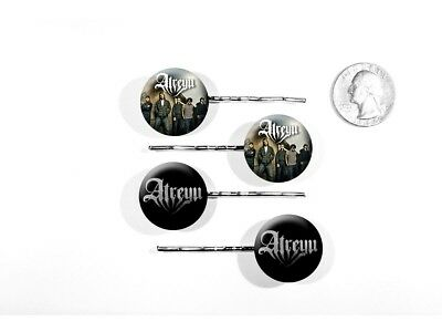 Atreyu Metalcore Alex Varkatzas Long Live Logo Set of 4 Bobby Pins