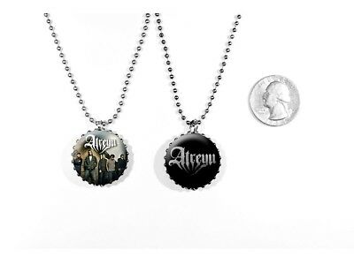 Atreyu Metalcore Alex Varkatzas Long Live Logo 2 Sided Necklace