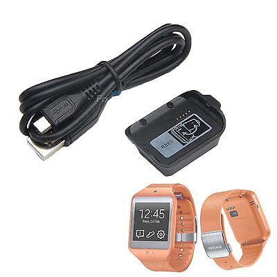 Charger Charging Dock Cradle +Cable for Samsung Galaxy Gear 2 Smartwatch SM-R380
