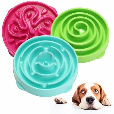 Healthy Pet Dog Cat Puppy Interactive Slow Food Feeder Bowl Gulp Bloat Dish AU