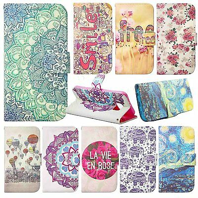 PU leather case flip cover wallet case protective skin For Samsung mobile phones