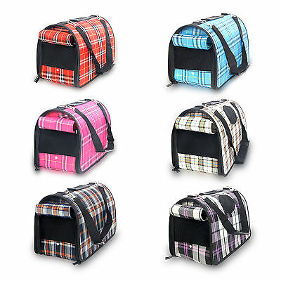 Pet Carrier Cat Dog Outdoor Portable Sided Comfort Travel Bag Crate Kennel
