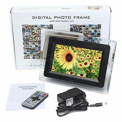 "7"" TFT-LCD Digital Photo Movies Frame MP3 MP4 Player Alarm Remote Control Gift"