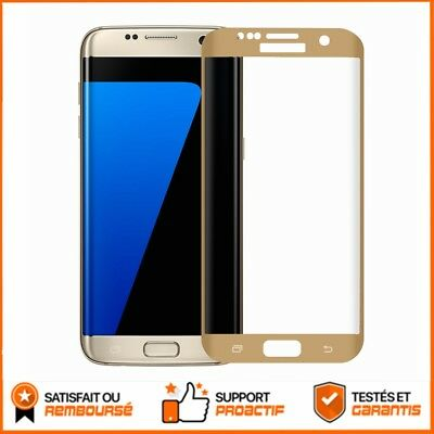 9H Glass Film Protection Verre Incurvé Trempé pour  Samsung Galaxy S7 Edge en or