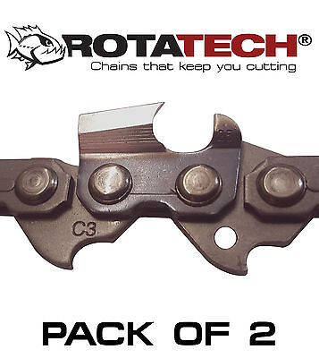 "Genuine Rotatech Chainsaw Saw Chain *pack Of 2* Fits Husqvarna 550Xp 18"" Bar"