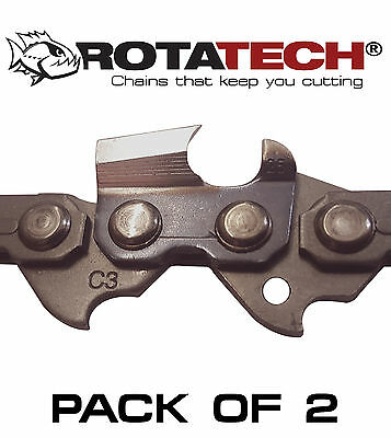 "Genuine Rotatech Chainsaw Saw Chain *pack Of 2* Fits Husqvarna T435 12"" Bar"