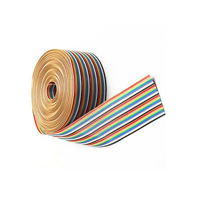 1M 3.3ft 40 Way 40 pin Flat Color Rainbow Ribbon IDC Cable Wire Rainbow Cable N