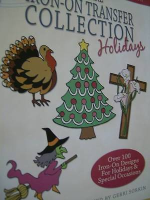 Keepsake Iron-On Transfer Collection Holidays Book -100+ Designs- Easter, Thanks
