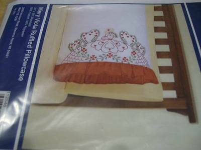 Mary Viola Ruffled Pillowcase To Embroider 20x30 Inches