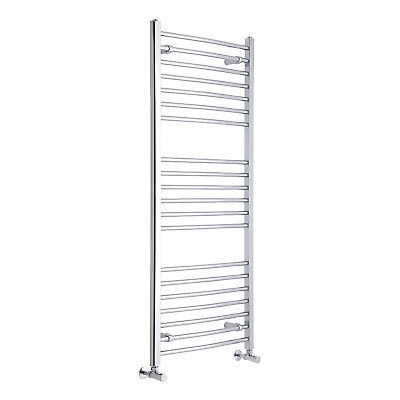 Curved Modern Chrome Heated Bathroom Towel Ladder Radiator Rail 1400mm x 600mm