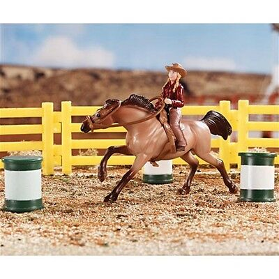 Breyer Stablemates Barrel Racing Set