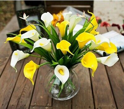 Home Wedding Garden Party Decor Artificial Fake Calla Lily Silk Flower Hydrangea
