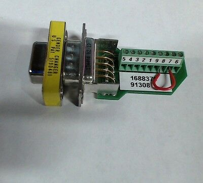 Parker 9773521 01 9 pin adapter w/ 5190481 gender changer d-sub  60 day warranty