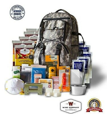 Wise Company ~ 5 Day Survival Back Pack Bug Out Bag Emergency Food ~Digital CAMO